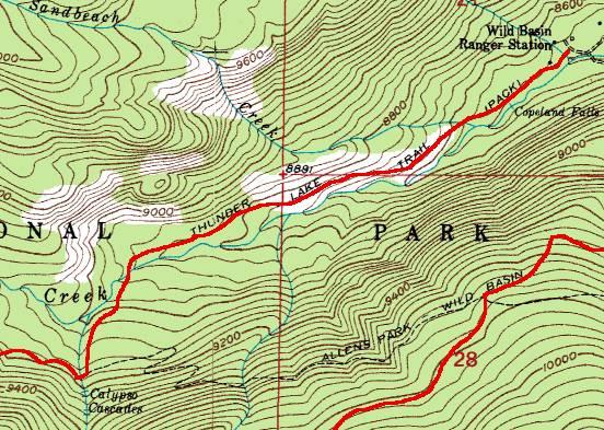 RMNP Trail Guide - Trail Map